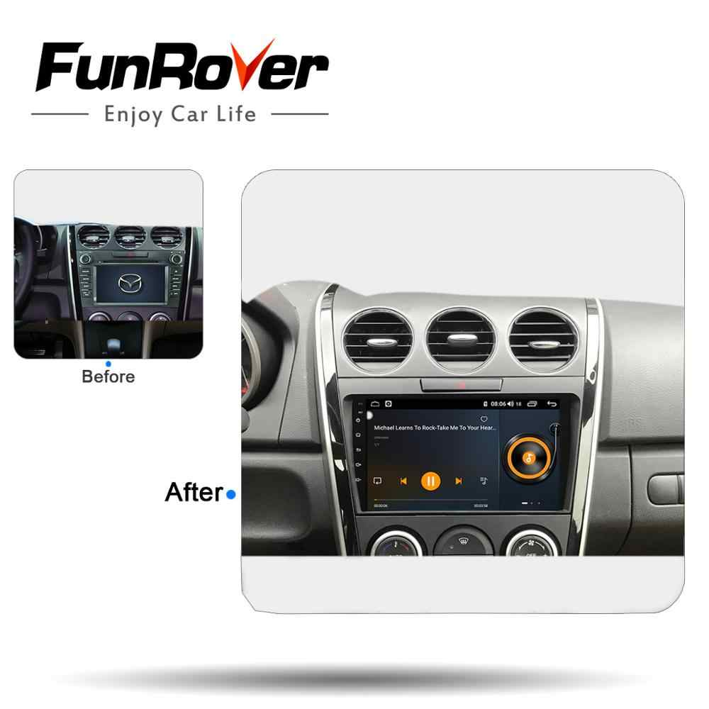 Funrover 8 core 2 din 9 ''Android 8,1 Автомобиль Радио мультимедийный плеер для Mazda CX7 CX 7 CX-7 2008-2015 DVD GPS Navi DSP 64G LTE RDS