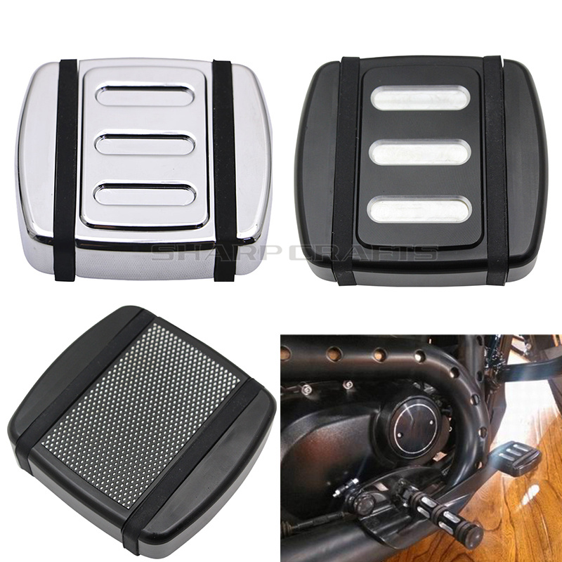Motorcycle CNC Edge Cut Small Brake Pedal Pad Cover Footpegs For Harley Street 500 750 XG500 XG750 FXST Softail FXD Dyna