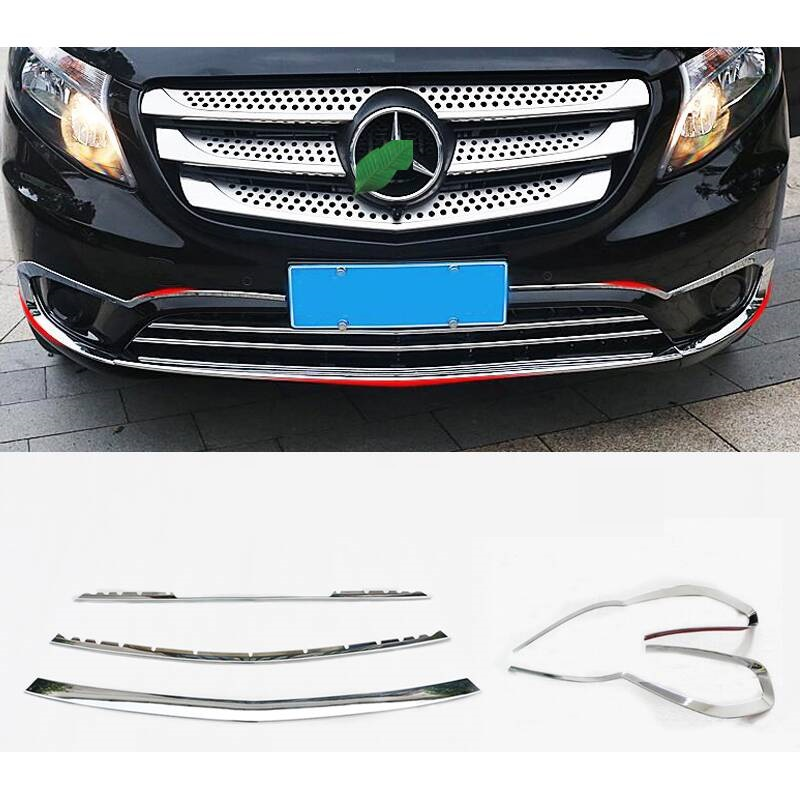 Parachoques Auto Sticker Accessories Guard Coche Bumper Protector Car Molding Styling Mouldings 16 17 18 FOR Mercedes Benz Vito in Styling Mouldings from Automobiles Motorcycles