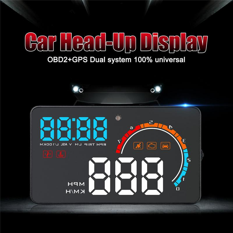 2019 New D2500 HUD OBD2+GPS Dual System Universal 4 inch LED Screen For All Cars Head up Display Car Electronic Accessories