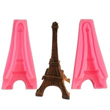 DIY 3D Silicone Mold Eiffel Tower Shape Food Grade Fondant Molds For Baking Craft Pastry Chocolate Mold Cake Decorating Tools ballet skirt cakes molds food grade silicone sugar chocolate cake cookies mold diy decorating baking tool