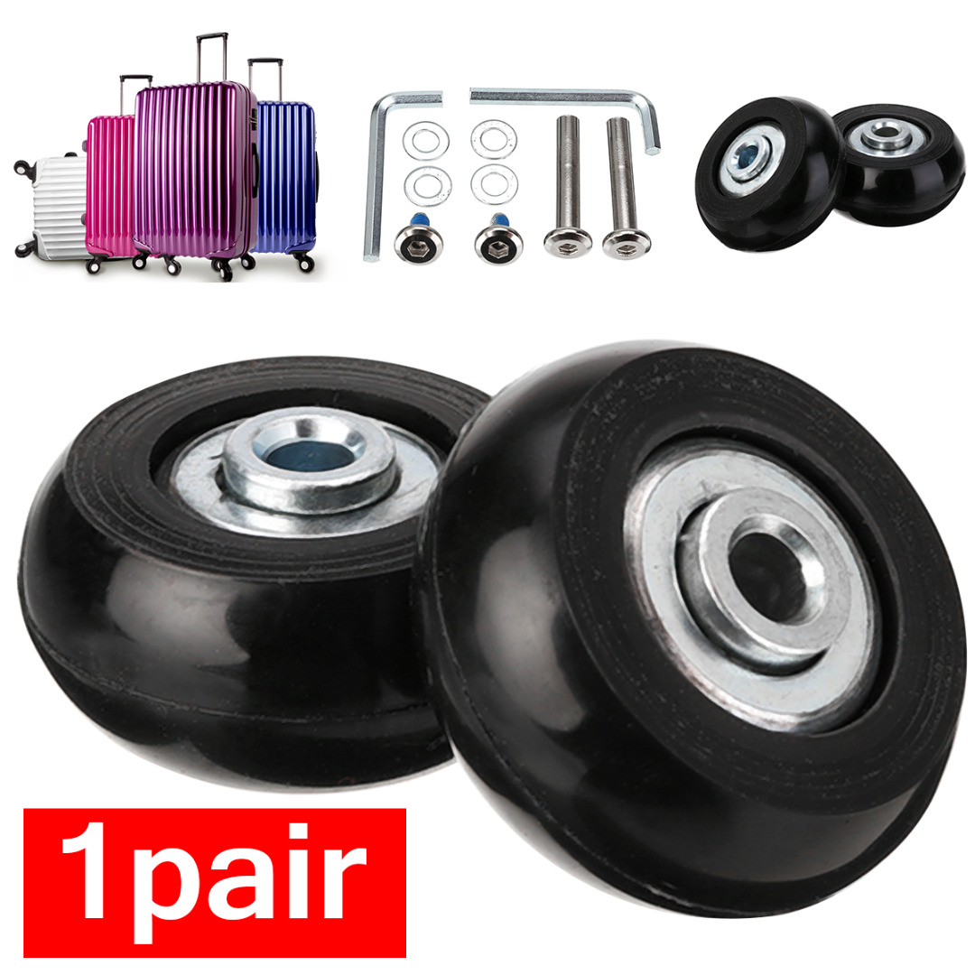 1 Pair Luggage Suitcase Replacement Wheels Axles Repair Parts Kit Wrench Bearing Wheel Roller 40/50/68/70 Outdoor Travel Kits