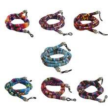 Gafas de sol retro redondas de 20 piezas, soporte de cordón de algodón para cuello, retenedor de correa para gafas, soporte de cordón con lazo de Buena Silicona