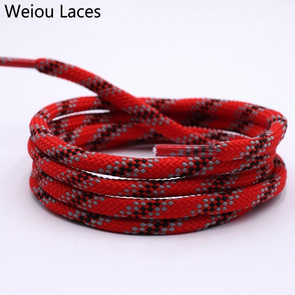 Weiou 6 мм новые шнурки круглый шнурок талии свитер шляпа веревка полиэстер Мода Серый Красный Черный шнурки для обуви кроссовки шнурки