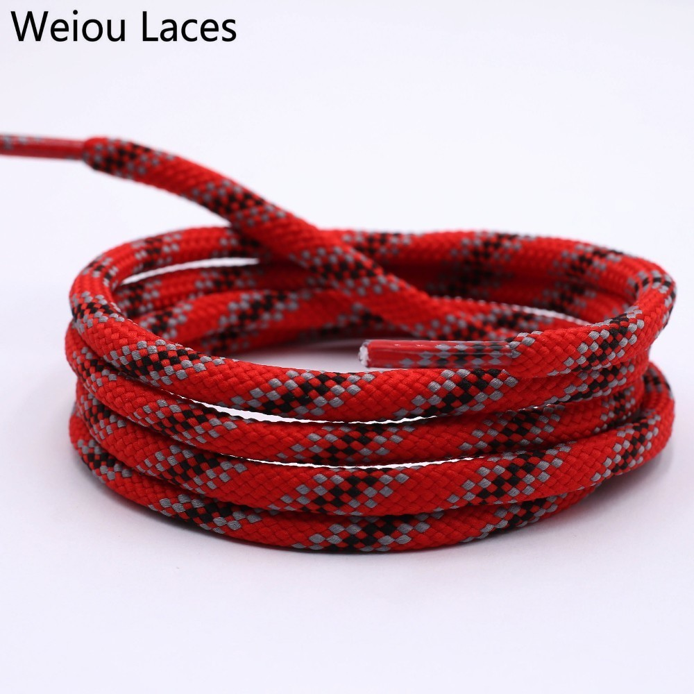 Weiou 6mm New Shoelaces Round Drawstring Waist Sweater Hat Rope Polyester Fashion Grey Red Black Shoe Laces Sneaker Shoestring