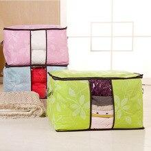 Feuille couette avec coton sac de rangement épaississement fonds peut fenêtre Protection de lenvironnement placard organisateur sacs sous vide pour vêtements