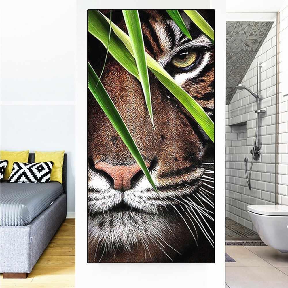 HUACAN diamant peinture tigre paon plein forage carré diamant broderie vente Animal photo strass mosaïque décor maison
