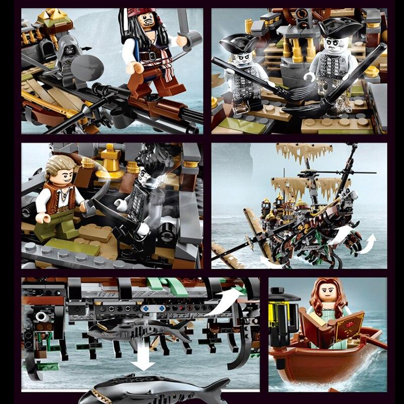SY 1200 Pirate caraïbes bateau silencieux Mary blocs de construction Compatible legoingLYs 71042 jouet LP 16042 pour enfant cadeaux d'anniversaire - 3