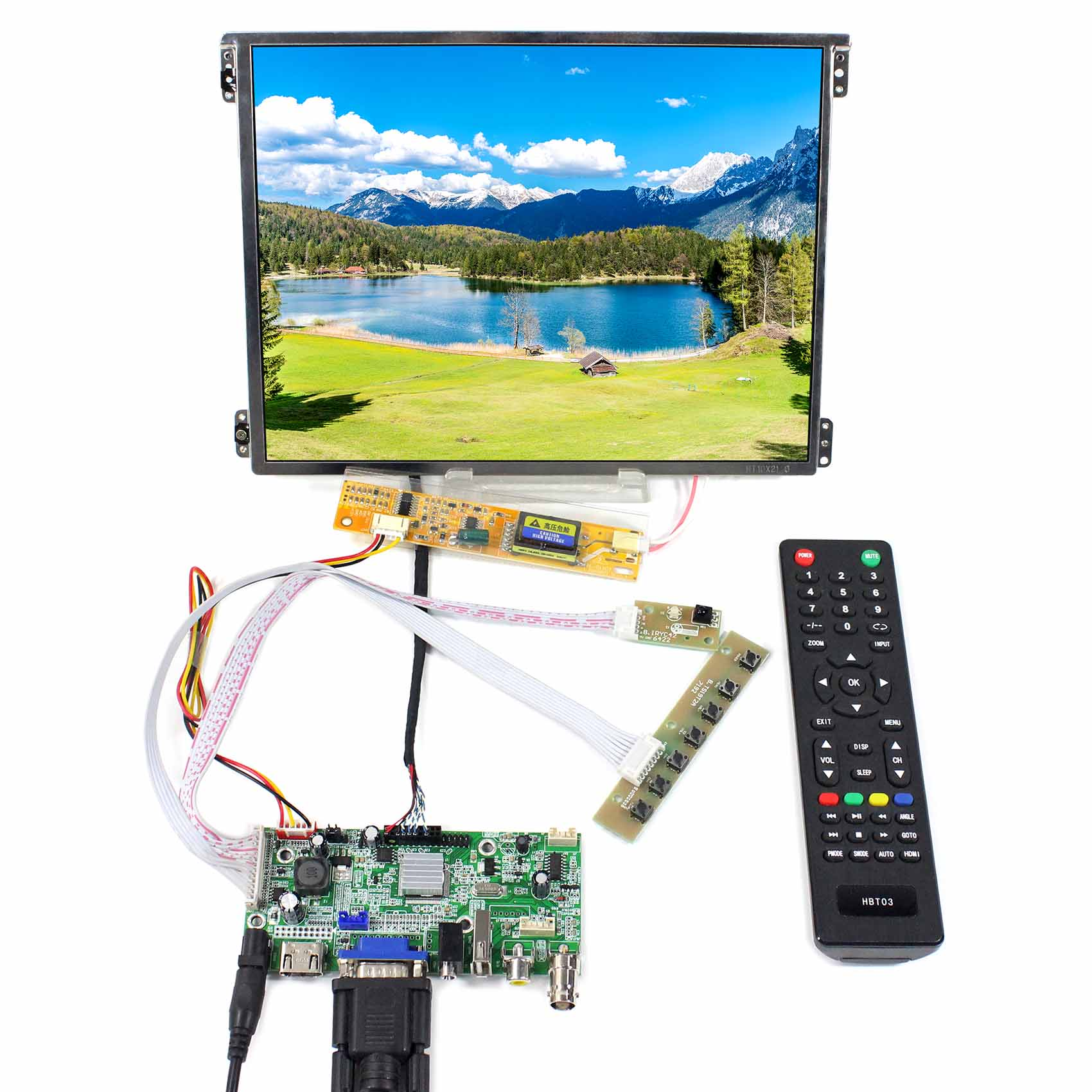 HDMI VGA 2AV USB LCD Board Work for 10.4 1024X768 LCD Screen HT10X21-311 HDMI VGA 2AV USB LCD Board Work for 10.4 1024X768 LCD Screen HT10X21-311