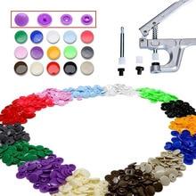 150Pcs/Set Plastic Snaps Hand Held Pliers Tool Kit with Buttons 15 Colors T5 WXV Sale dhl 1pc kam dk93 snaps buttons hand press table top machine 1pc t5 die set