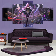 5 Piece Digital Art Paintings League of Legends KDA Katarina Video Game Poster Artwork Canvas Wall for Home Decor