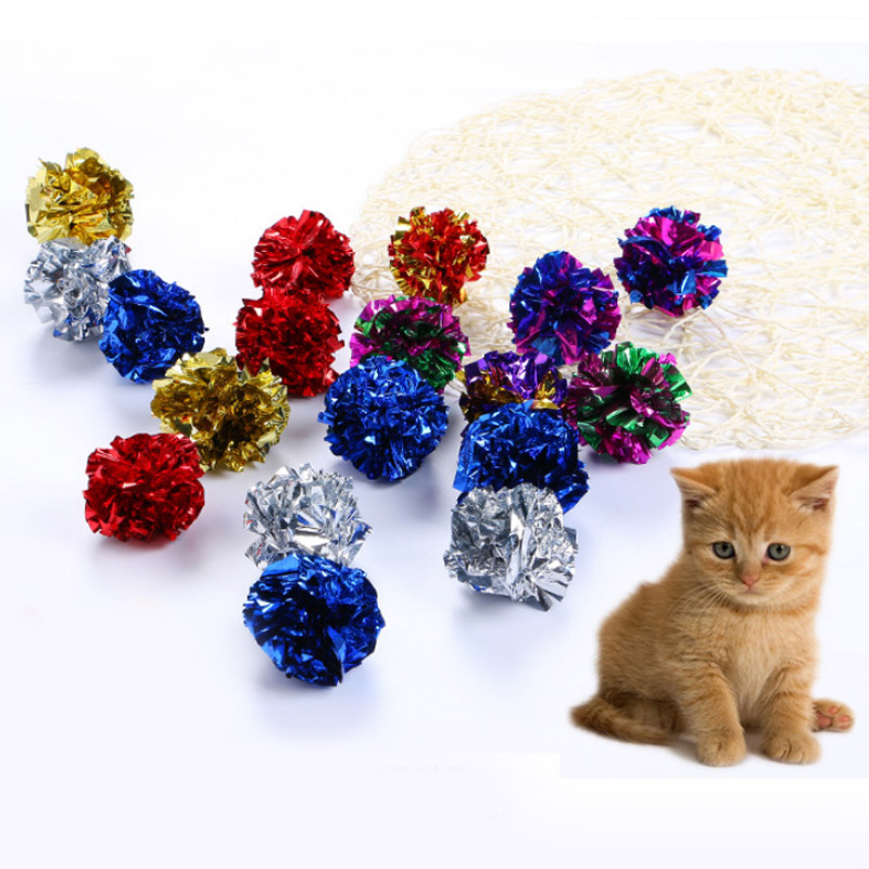 Sale 1PC font b Pet b font Products Cat Toys Multicolor Ring Paper Playing Interactive Crinkle