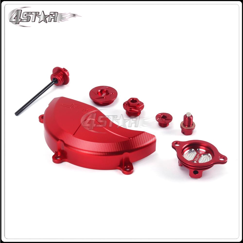 Moto rouge CNC en aluminium vis distribution moteur couvercle huile filtre bouchon jauge pour HONDA CRF250R 10 2011 2012 2013 2014 2015 2016 - 2
