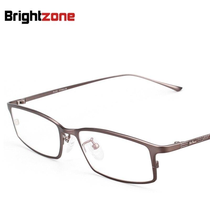 Dépasser titane plaque affaires affaires monture de lunettes titane pur myopie lunettes carré plein cadre lunettes concises 9021