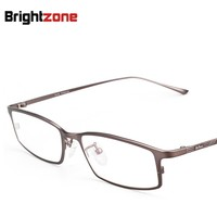 Superare i Placca di Titanio Affari Montatura per occhiali Puro Titanio Miopia Occhiali Quadrato Full Frame Occhiali Concise 9021-in Montature per occhiali da Abbigliamento e accessori su