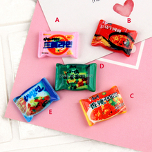 Resin Instant Noodles Pretend Food Slime Charms beads Diy Accessories for Phone Scrapbooking Deco 10pcs 26mm