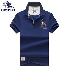 Men Summer New Brand Cotton Classic Casual Embroidery Polo Shirts Men Business Short Sleeve Stand Collar Tops&Tees Polo Shirt(China)