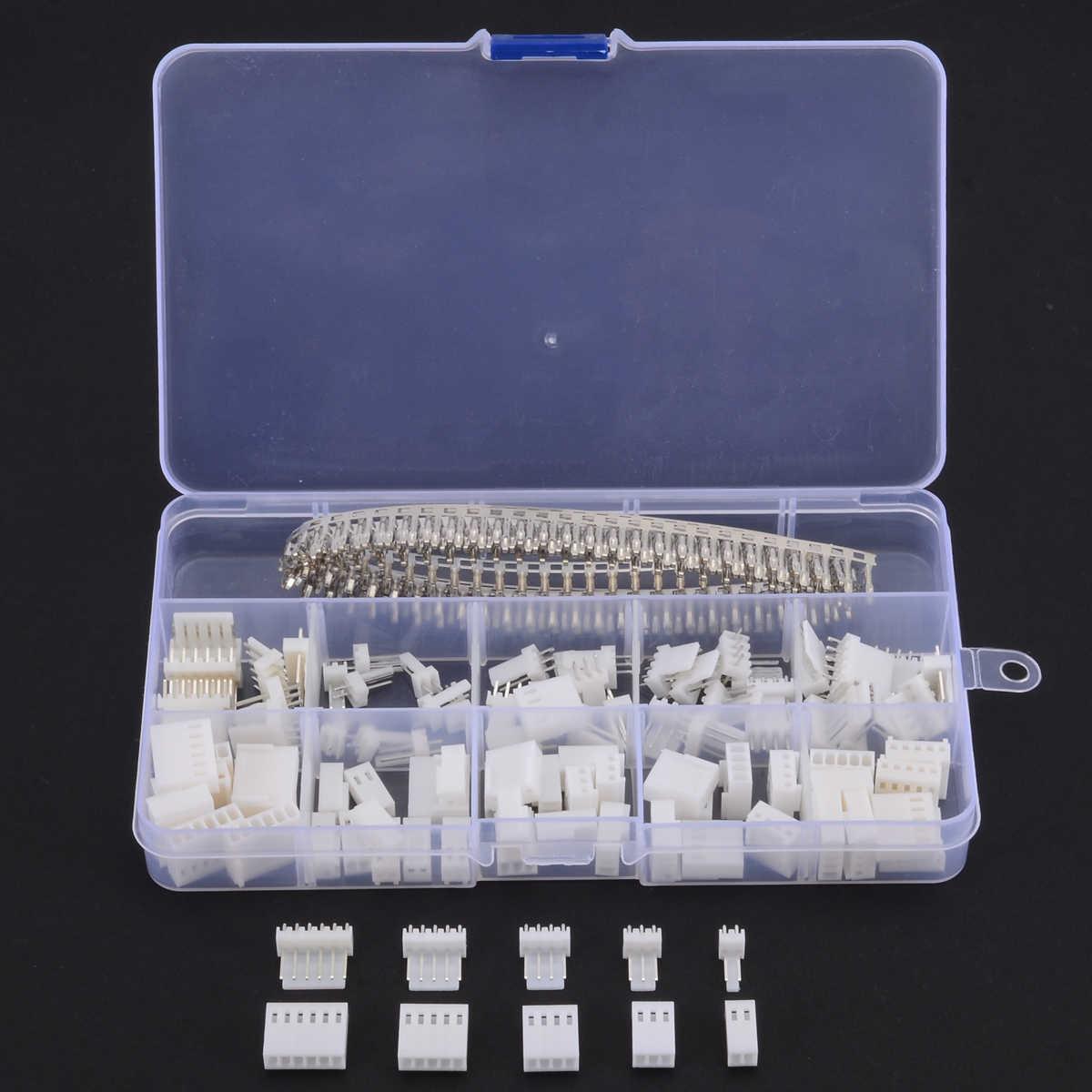 300 قطعة جديد KF2510 2.54 مللي متر 2 3 4 5 6 دبوس الإناث محطة الإسكان رأس سلك موصل مع صندوق بلاستيكي