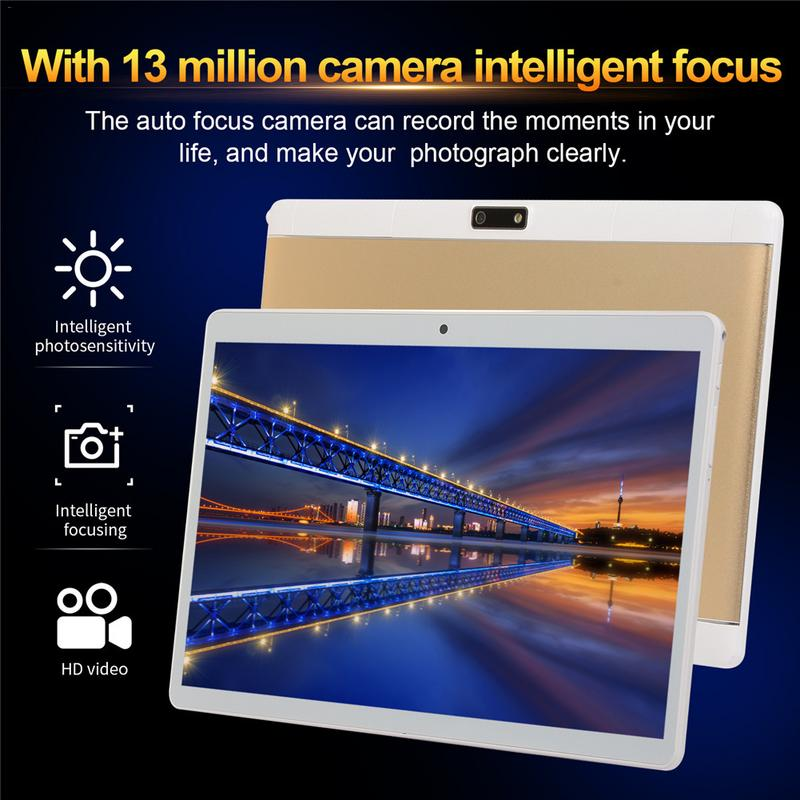 Portable Smart Tablet Ten Core 8G+256G Android 10.1 inch High Definition Screen 3G Wifi Bluetooth Call PC Laptop Camera