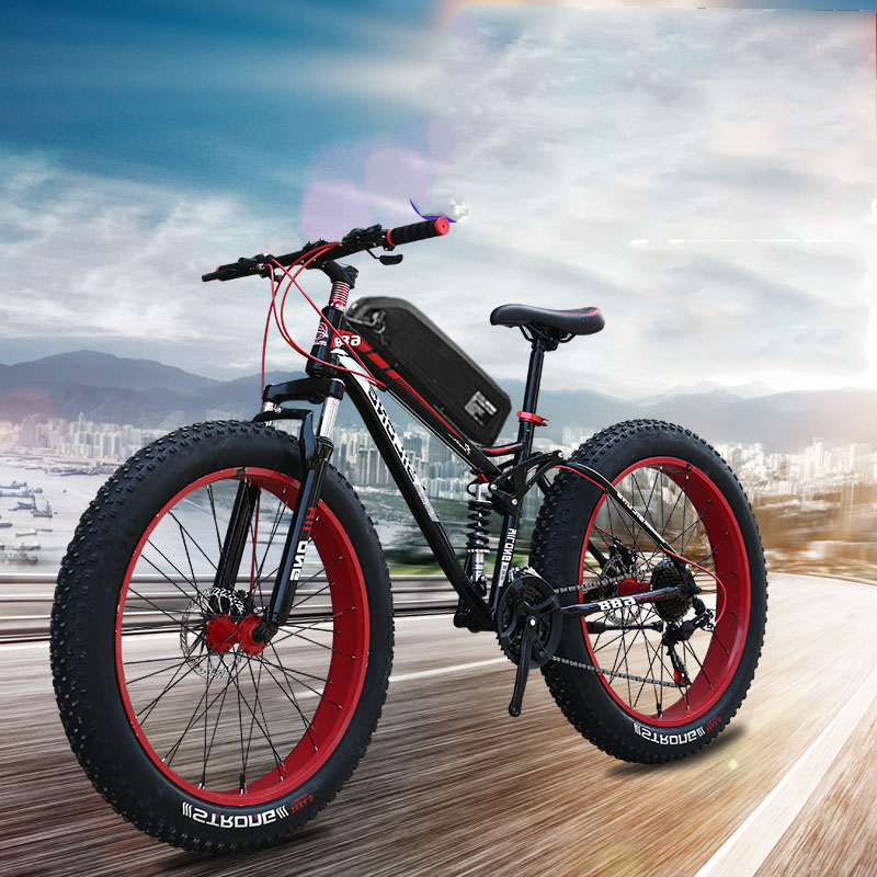 Daibot Powerful <font><b>Electric</b></font> <font><b>Bicycle</b></font> Two Wheel <font><b>Electric</b></font> Scooters 26inch Full Suspension Mountain 48V <font><b>1500W</b></font> Off Road <font><b>Electric</b></font> Scooter image