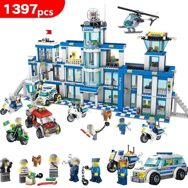 1397pcs Anti-Terrorism Action Model Building Blocks Compatible LegoING City Police Station Series Set Children Toys kids gifts