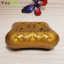Chinese bronze incense burner small mini decoration metal craft home accessories living room supplies