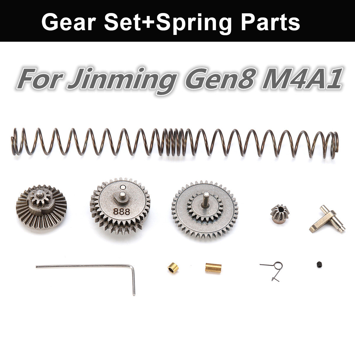 Upgrade Metal Gear Box Set Spring Parts For JinMing Gen8 M4A1 Gel Ball Blastters Water Games Toy  Guns Replacement Accessories