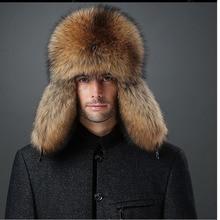Russo Colbacco Cappelli di Inverno Lei Feng cappello di pelliccia reale per  gli uomini morbida pelle 08e5c965f82a