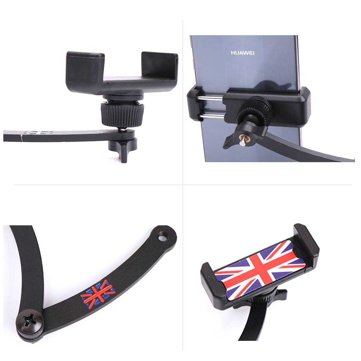360° Folding Auto Steering Wheel Phone Holder For BMW FOR Mini Cooper R55 R56 R57 R60 R61 Union Jack Cell Phone Mount steering wheel phone holder