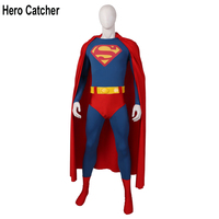 Hero Catcher Top Quality New 1978 Superman Cosplay Costume With Belt Old Superman Outfit With Cape Superman 1978 Costume