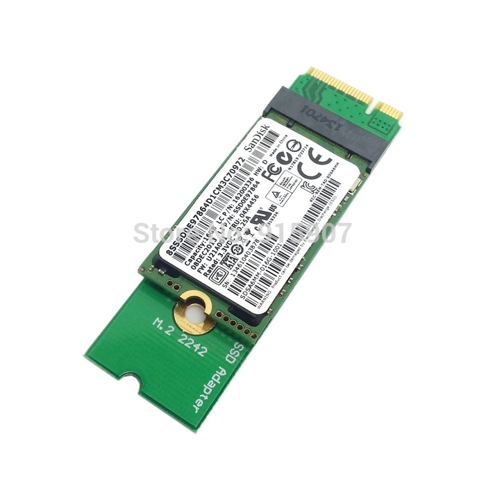 CYSM Mini PCI-E 2 Lane M.2 NGFF 30mm 42mm SSD To Lenovo X1 Carbon Ultrabook SSD Add On Cards PCBA