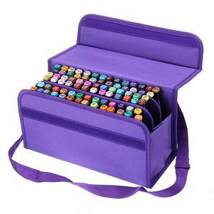 Image 2 - 80 Slots Large Capacity Folding Marker Pen Case Art Markers Pen Storage Carrying Bag Durable Sketch Tools Organizer