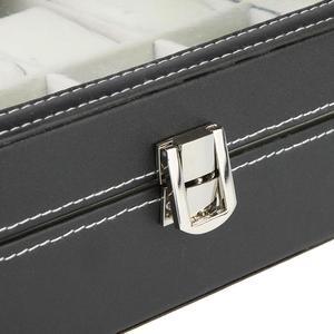 Image 4 - Caja de almacenamiento de cuero PU cajas de embalaje para reloj