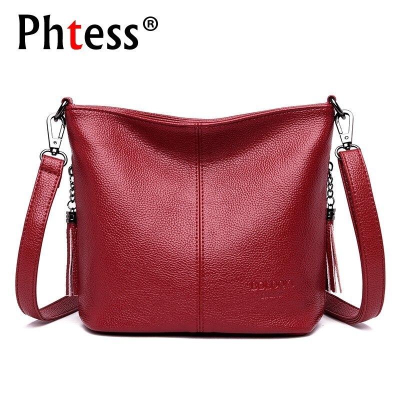 2019 Crossbody Bags For Women Soft Leather Shoulder Bag Bolsa Feminina Female Messenger Bag Sac A Main Ladies Bags Bucket Small