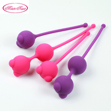 Man Nuo Silicone Smart Ball Kegel Ball Ben  Exercise Machine Vibrator VaWa Ball Vagina Tighten Geisha Ball Sex Toys for Women R4