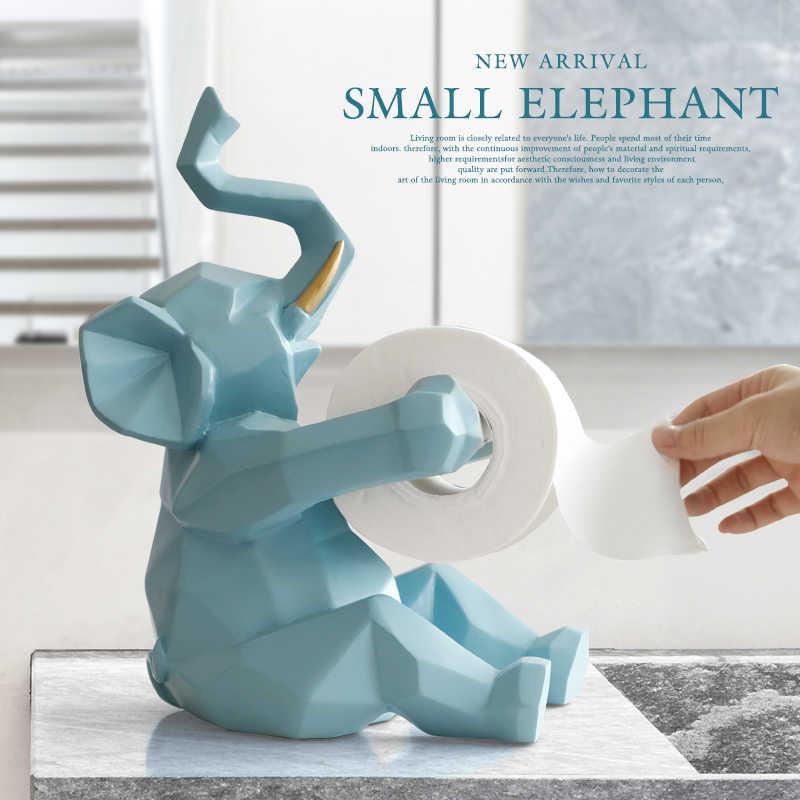 Tier statue Handwerk rolle papier halter Tisch wohnzimmer büro restaurant hängen papier Elefanten/deer figur wohnkultur