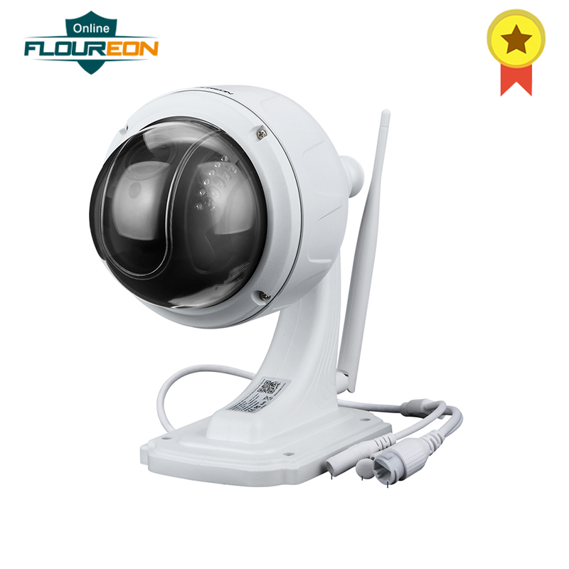 FLOUREON 1080P Wifi 2.7-13.5mm H.264 Wireless CCTV Security TF Micro SD Card 5XZOOM IR-CUT IP66 Dome PTZ IP Camera EU IP66FLOUREON 1080P Wifi 2.7-13.5mm H.264 Wireless CCTV Security TF Micro SD Card 5XZOOM IR-CUT IP66 Dome PTZ IP Camera EU IP66