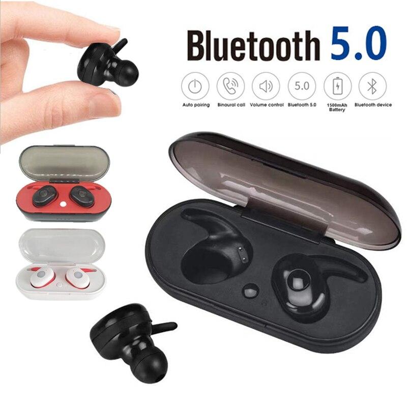 S9100 Wireless TWS Bluetooth Earphone Headset Bluetooth Deep Bass Stereo Sound Sport Hands Free For Samsung Iphone Xiaomi in Bluetooth Earphones Headphones from Consumer Electronics