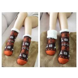 Женские зимние носки, мягкие, теплые, уютные, пушистые, с флисовой подкладкой, рождественские толстые носки, подарок с захватом, тапочки, жен...