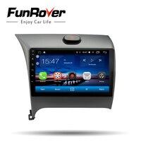Funrover автомобиля Радио мультимедийный плеер Android 8,0 автомобильный DVD для Kia CERATO K3 FORTE 2013 2014 2015 2016 головное устройство gps навигации 9