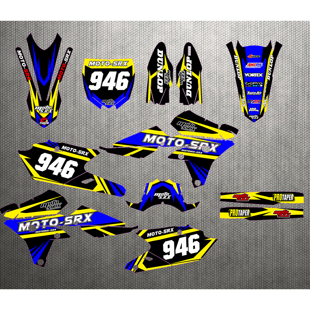 Motocycle TEAM GRAPHICS BACKGROUNDS DECALS STICKERS For Yamaha YZ250F YZ450F YZF250 YZF450 2014 2016 YZF 250