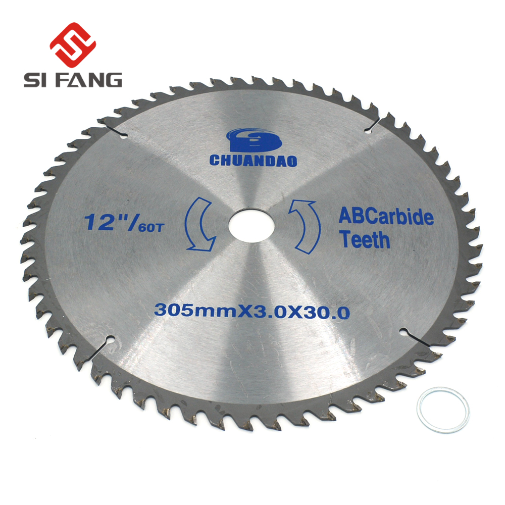 SI FANG 305mm(12 Inch) 60Teeth/80Teeth Carbide Circular Saw Blade Cutting Disc Cutting Tool For Steel Aluminum Wood Plastic