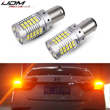 iJDM Car 1157 LED No Hyper Flash Amber Yellow 3030 LED P21/5W BAY15d LED Bulbs For car Turn Signal Lights DRL ,Canbus Error Free 2pcs bau15s 1156 double colors turn signal drl 2835smd white amber yellow error free canbus with resistor led car lights