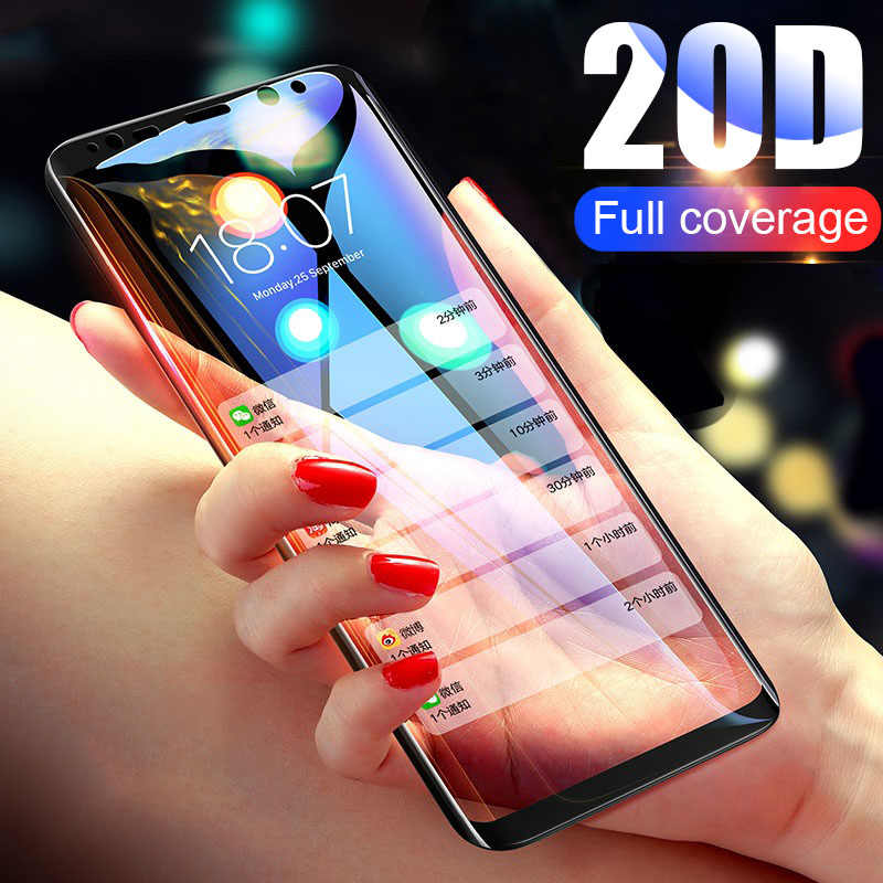 20D Full Curved Tempered Glass For Samsung Galaxy S8 S9 Plus Note 8 9 Screen Protector For Samsung S9 S7 S6 Plus Protective Film