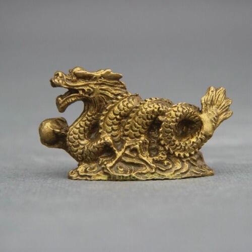 FengShui Chinese Folk Bronze Copper Stand Year Zodiac Dragon Statue Sculpture|sculpture statue|sculpture stand|sculpture bronze - title=