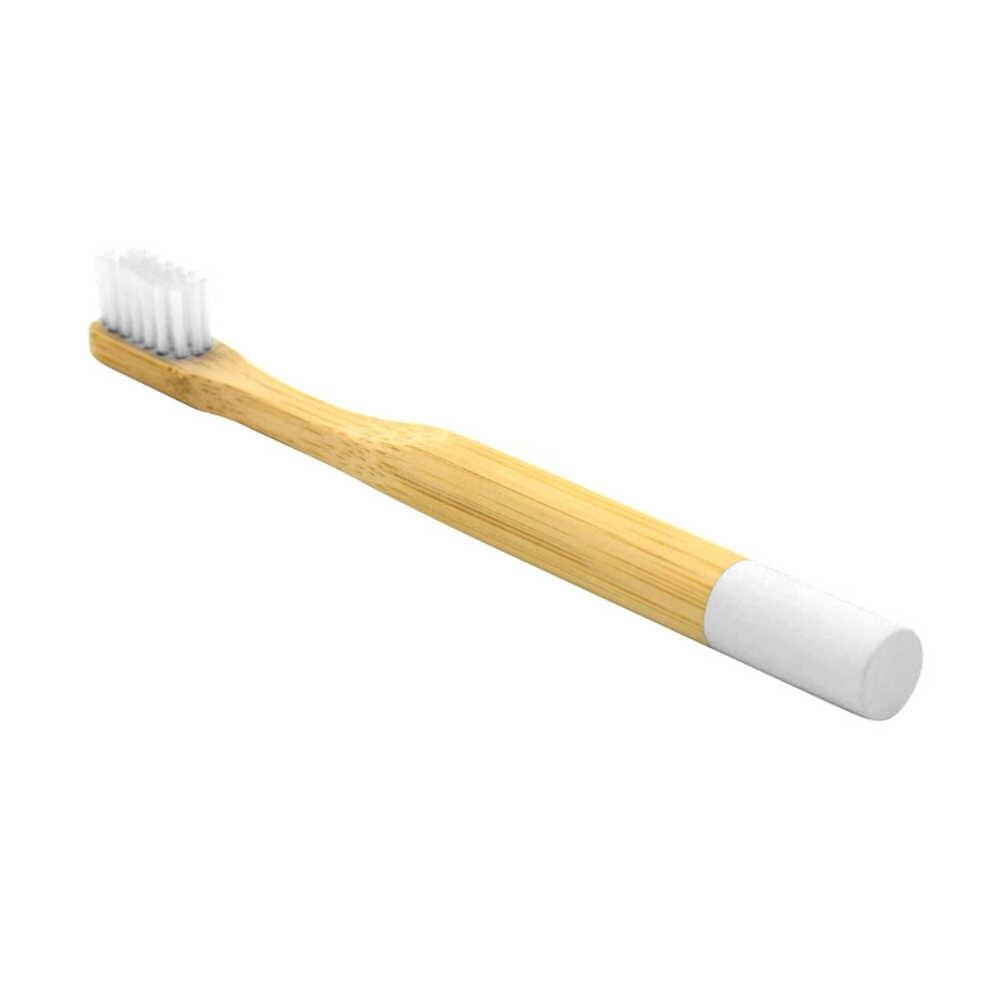 Precio al por mayor 6 colores de bambú ecológico cepillo de dientes sensibles adecuado de cerdas de Degradable cepillo de dientes para niños adultos