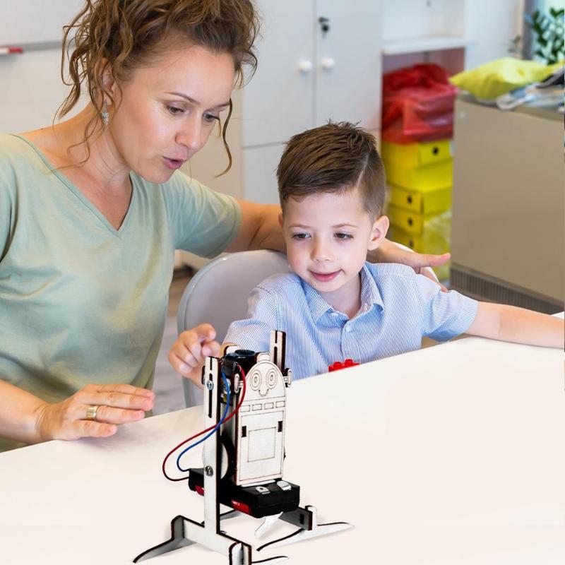 Robot eléctrico de juguete de experimentos de ciencia, paquete de Material de bricolaje, pequeño modelo de producción, Kit de aprendizaje, juguetes técnicos educativos, regalos