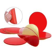 10Pcs 3M Circle Double Sided Tape Strong Acrylic Adhesive PET Red Film Clear Double Side Tapes No Trace LCD Phone Tablet Screen