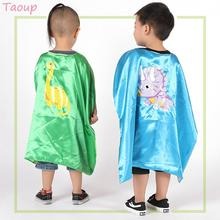 Taoup 1pc 67*67cm Dinosaur Birthday Party Decor Supplies Cloak Show Props Figures Babyshower for Kids Boys