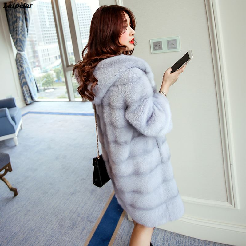 Faux Fur Vest Top Fashion Wide-waisted Full 2020 New Fur Mink Coat Female High Imitation Rejection Cap Long Section Laipelar